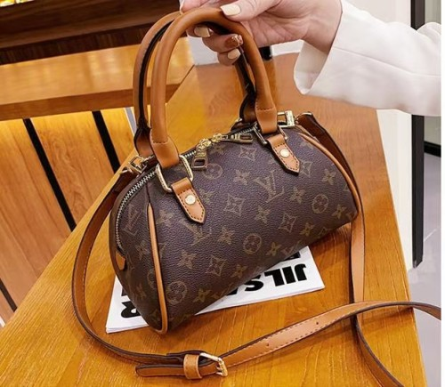 Luxury LV Designer Brand Women's Bag Women's Canvas Bag Handbag with Logo Large Capacity Tote Bag Luxury Brand Designer Bag