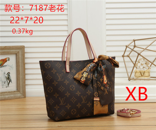 High Quality Luxury Brand LV Classic Design Ladies Fashion Messenger Bag Discoloration Leather Shoulder Bags Clutch Wallet