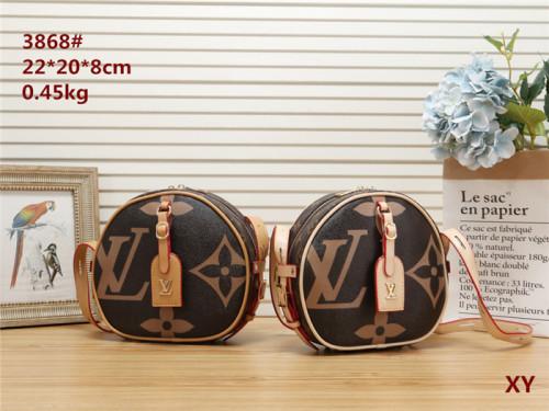 Original luxury LV women's leather Marmont shoulder bag leisure versatile diagonal cross bag metal chain elegant small square bag
