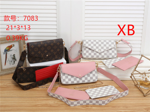 LV High Quality 2021New Ladies Fashion EVA Chain Shoulder Bag Hot Selling Women's Color Changing Leather Crossbody Bag Underarm Bag
