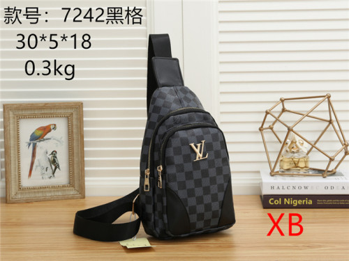 Luxury LV Designer Bags Men CrossBody Bags Plaid Zipp Chest Bag for Men Travel Belt Pouc Male Crossbody Shoulder Bags Best Sellers
