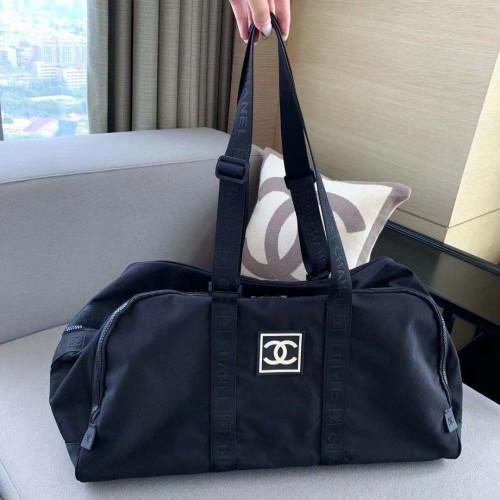 Luxury Chanel Classic Flower Design Mens Leather Travel Bag,Portable Large Capacity Fitness Bag,Hot Sale Travel Shoulder Bag,Luggage Bag
