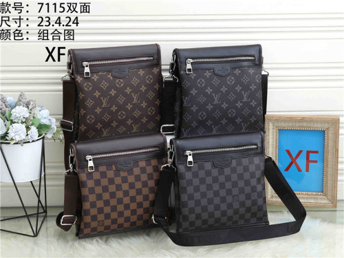 Luxury LV Men's Genuine Leather Shoulder Bag For Men Casual Crossbody Man Handbag Messenger Bag Male Side Bags Guarantee Men's Bags
