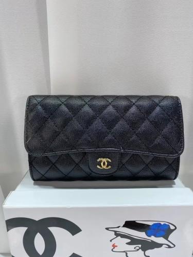 Original Chanel luxury women's Leather Classic mamont bag single shoulder diagonal cross bag designer leisure metal chain postman bag