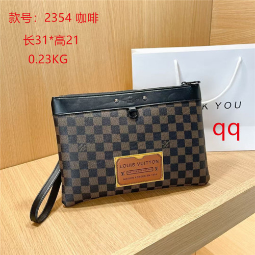 2021 Fashion LV Brand Briefcase Genuine Leather Messenger Bags Cow Leather Black Casual Envelope Bag Men Women hand bags