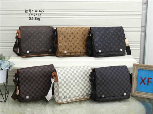 LV Luxury Style Messenger Bags Shoulder Bag Luxury Men's briefcase Business Plaid Bag for Male Leather Handbag Crossbody Bag