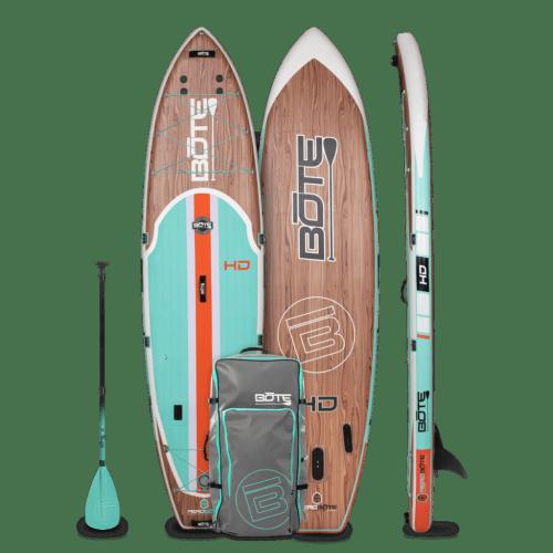 HD Aero 11′6″ Classic Teak Inflatable Paddle Board