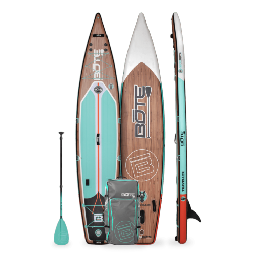 Traveller Aero 12′6″ Classic Teak Inflatable Paddle Board