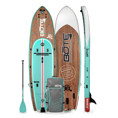 Rackham Aero 12′4″ Classic Teak Inflatable Paddle Board