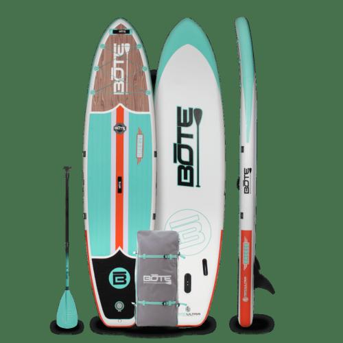 Breeze Aero 11′6″ Classic Teak Inflatable Paddle Board