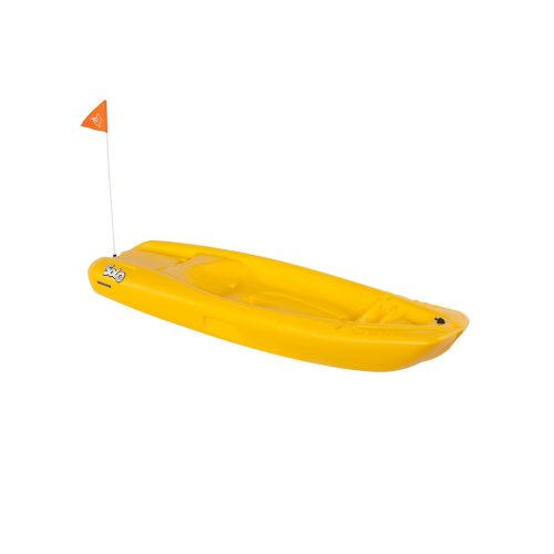 Solo kids kayak with paddle