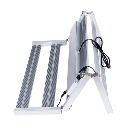 6bars 640W Tri foldable design 2.8-3.3.0umol/J dimmable full spectrum led grow light bar for greenhouse