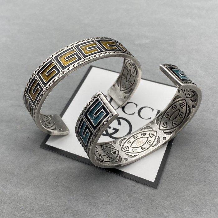 New square enamel bracelet
