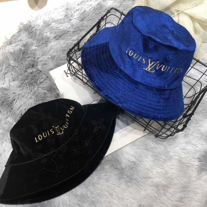 2 color fashion embroidery bucket hat