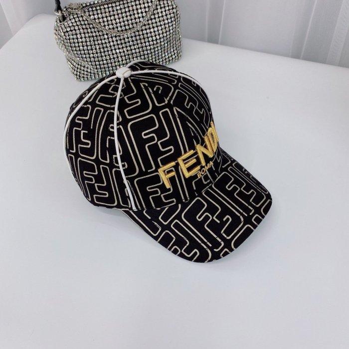 Gold line baseball cap