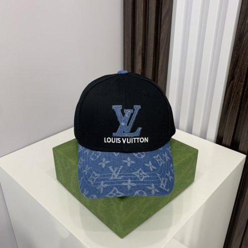 Stitching washed denim embroidery baseball cap