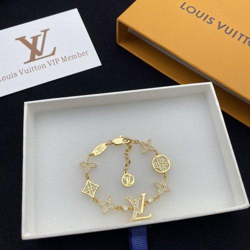 New letter flower bracelet