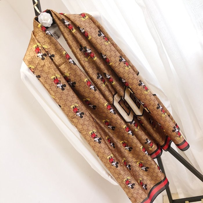 Classic new silk long silk scarf