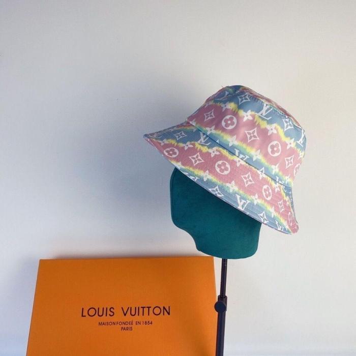 New colorful rainbow bucket hat