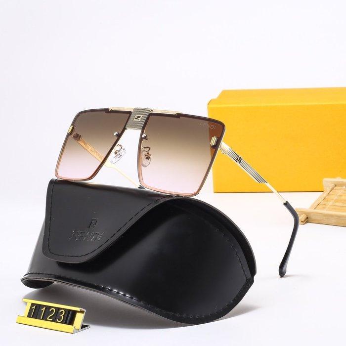 Fashion one-piece big frame FD1123 sunglasses
