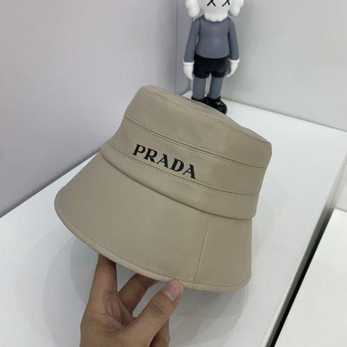 Autumn new leather bucket hat