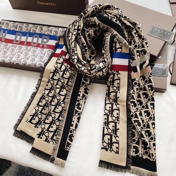 Temperament jacquard long scarf