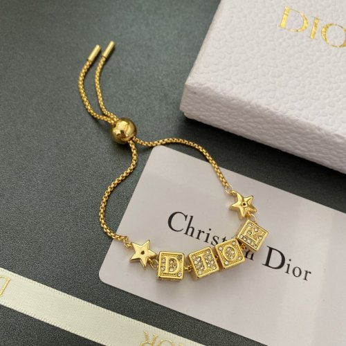 Diamond dice letter bracelet