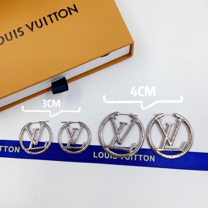 Letter hoop earrings