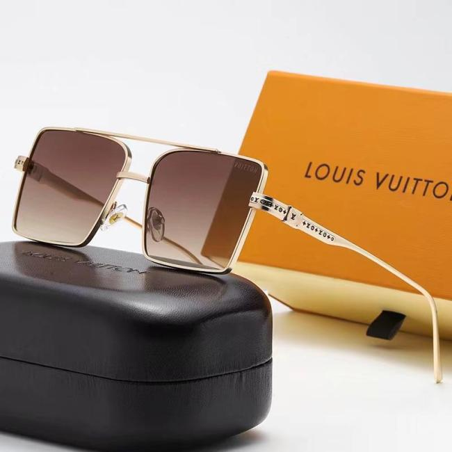 Square frame thin side L sunglasses