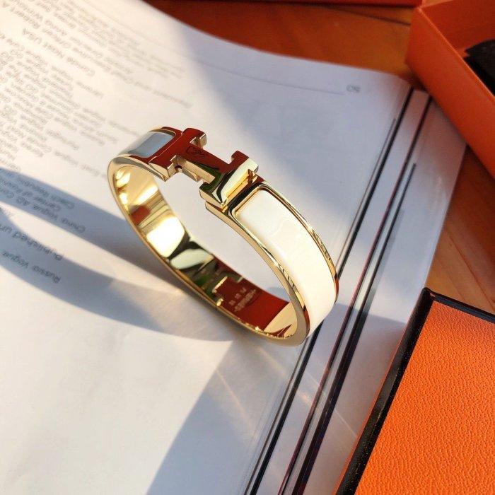 CLIC Enamel H Bracelet