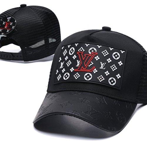 Mesh stitching stitching leather baseball cap