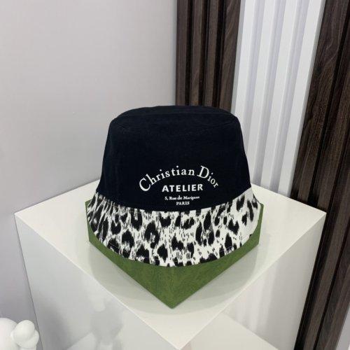 Autumn new style leopard pattern stitching bucket hat