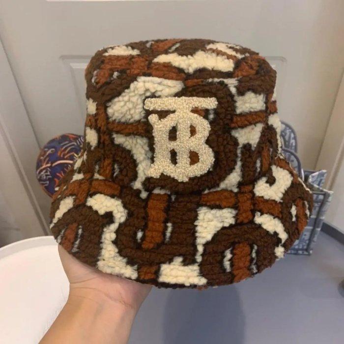 New lamb wool warm bucket hat