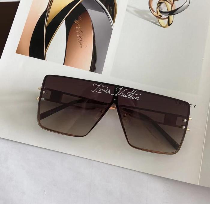 Fashion new style printed lens L sunglasses