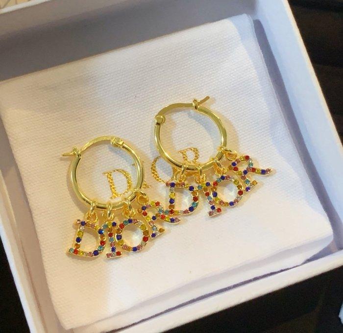 Fancy Diamond Letter Stud Earrings