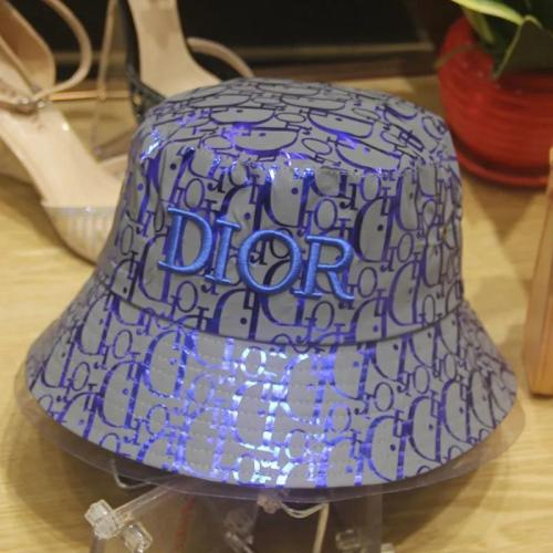 Reflective embroidered bucket hat