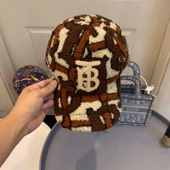 Embroidered plush warm baseball cap