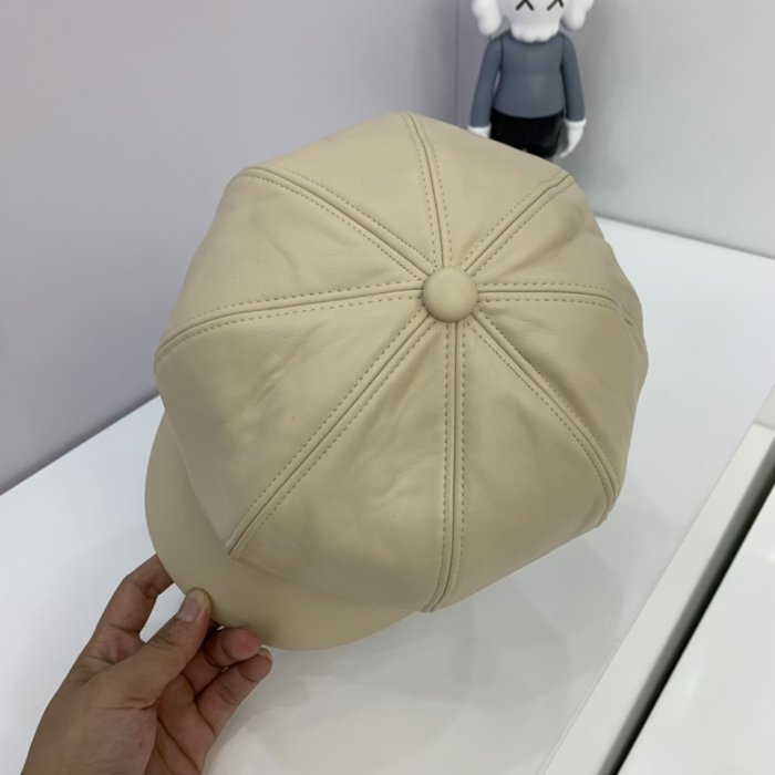 Autumn and winter new leather army hat