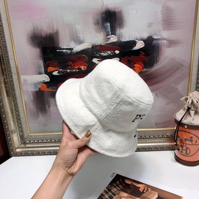 New 5 colors lamb wool bucket hat