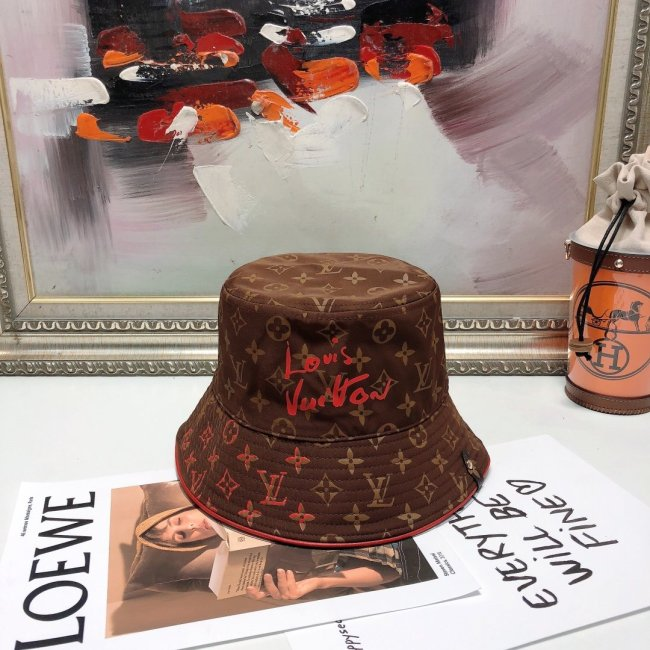 New double-sided signature print bucket hat