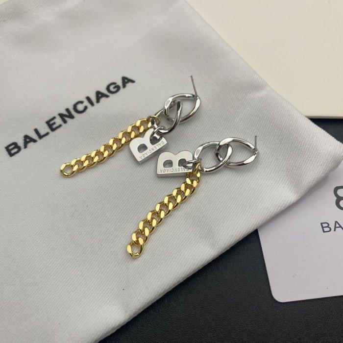 Chain letter earrings