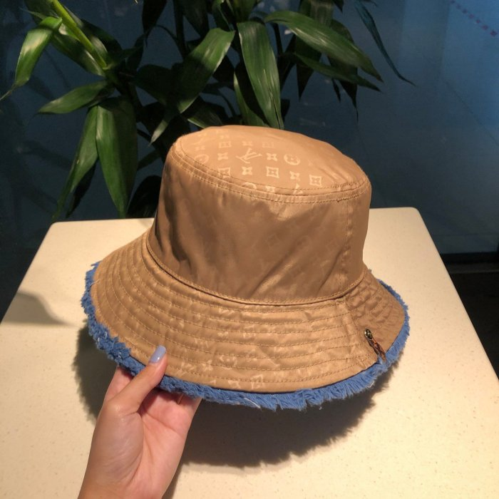 New style denim double-sided bucket hat