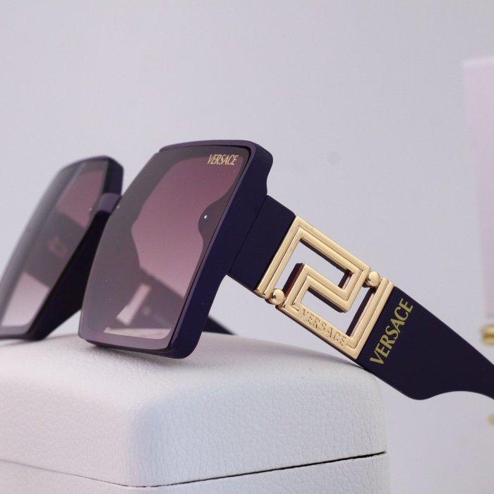 Fashion Big Frame Metal Hollow Sunglasses