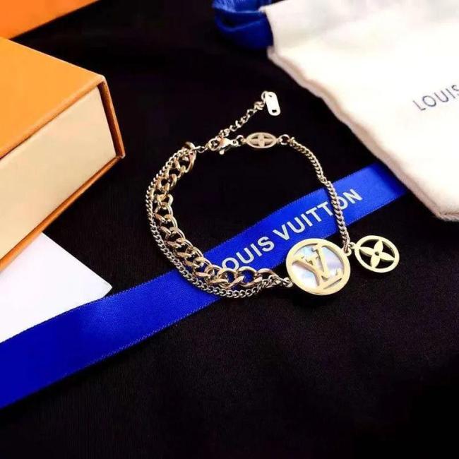 Four-leaf clover letter bracelet
