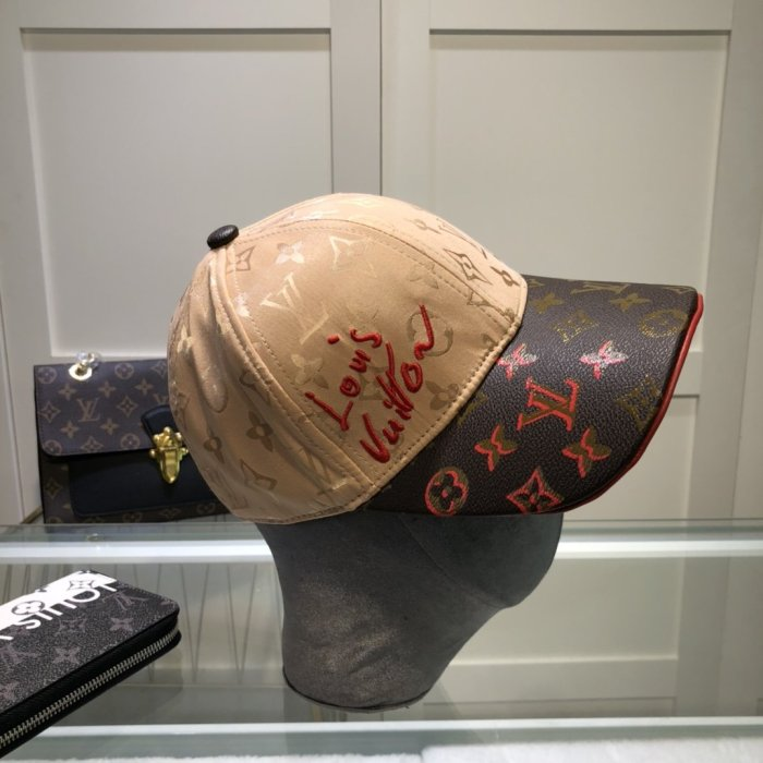 New stitching leather embroidery baseball cap