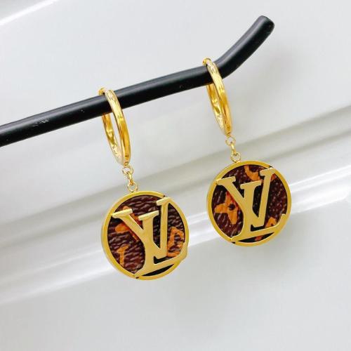 Classic leather pattern earrings