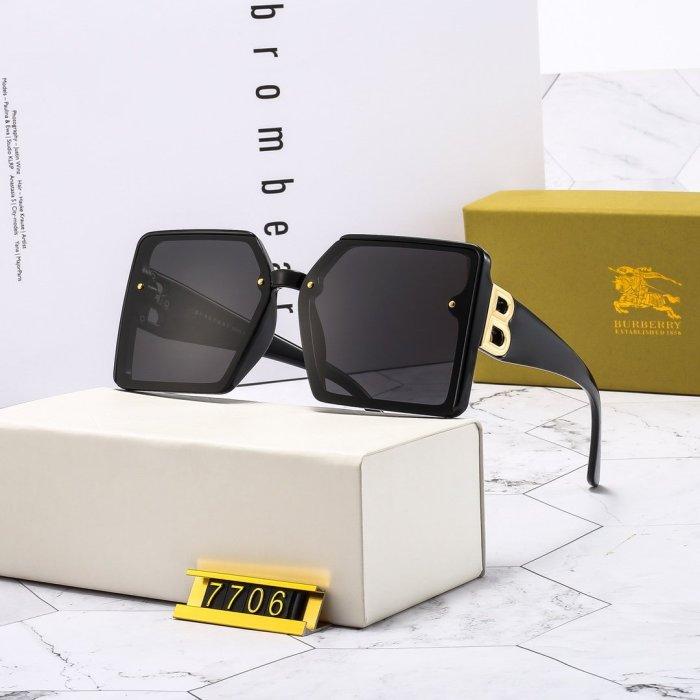Simple big frame B7706 sunglasses