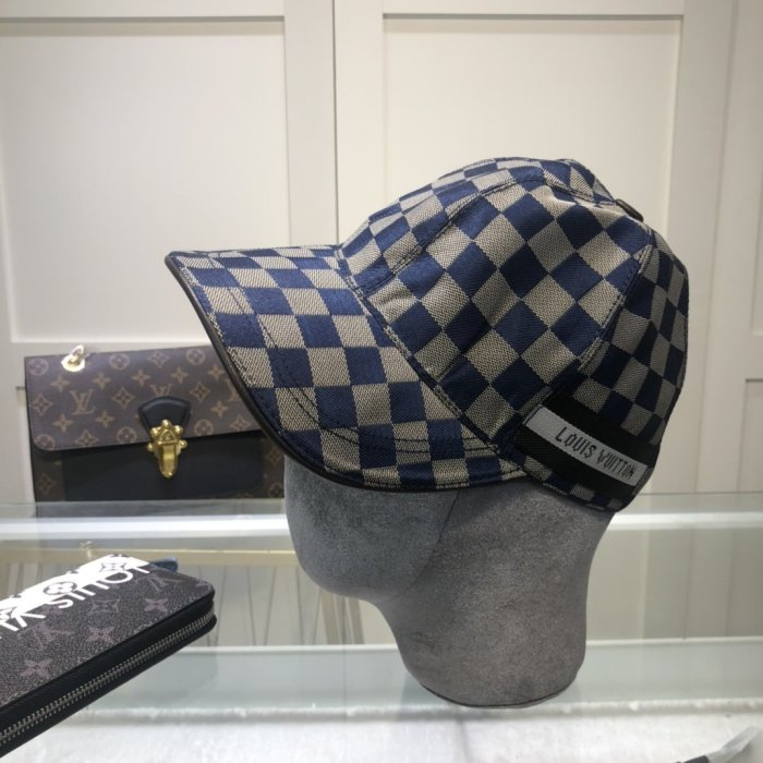 New satin check element baseball cap