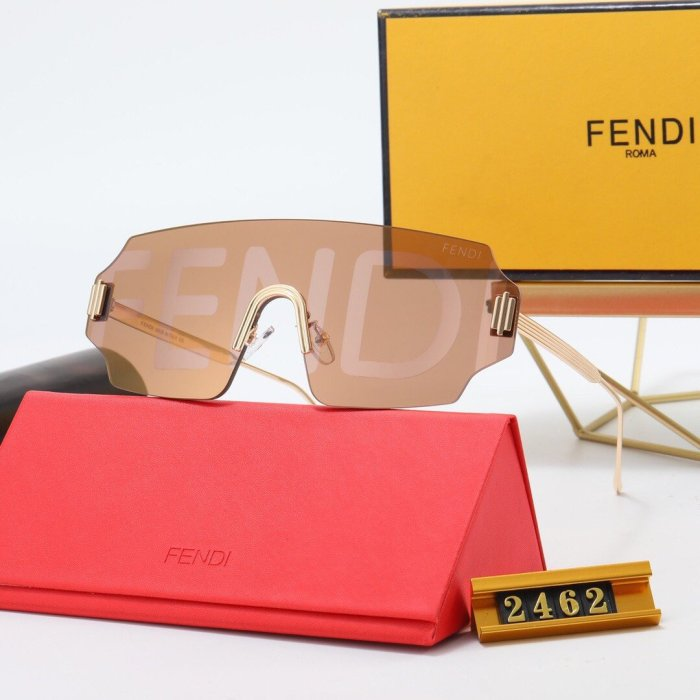 Fashion new FD2462 letter lens sunglasses