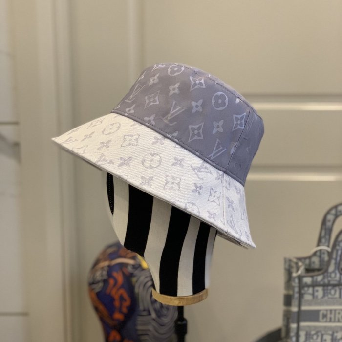Mercerized stitching bucket hat